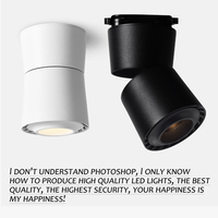 Surface Mounted Track Rail Mini Embedded COB LED Downlights 3W 5W 7W 360 degree rotation LED Ceiling Lamp Spot Light