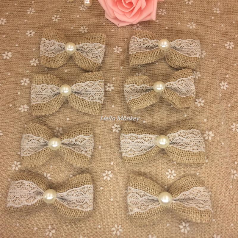 50pcs white natural jute burlap hessian bowknot bows hat accessories 50pcs white natural jute burlap hessian bowknot bows hat accessories craft rustic wedding decoration supplier craft decor in party diy decorations from home junglespirit Image collections