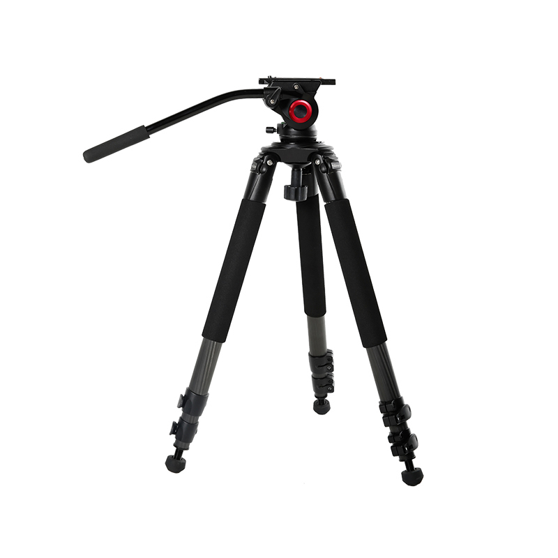 Miliboo IronTower MTT701B of Carbon Fiber professional camera light weight video tripod stand Fluid head MYT802 can put slide