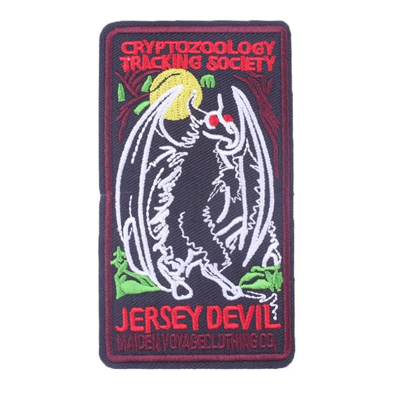 Prajna Dragon Patch Iron On Monotone Jackets Coat T-shirt Embroidery Hippie Cartoon Patches DIY Decor Handmade Washable Badge