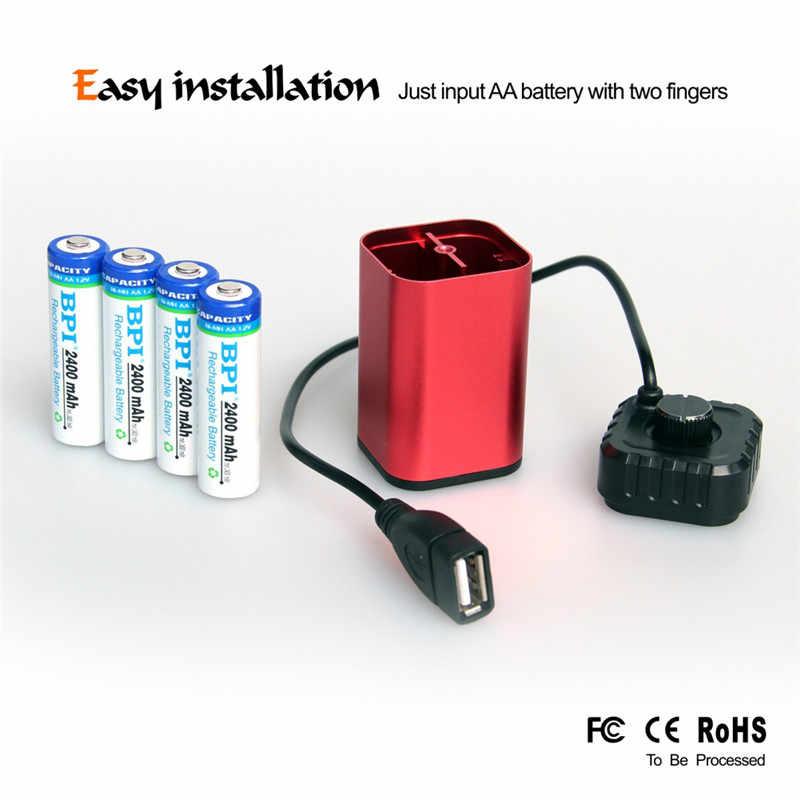 Hotoutdoor الدراجات 8.4 V USB 5 V 6x18650 للماء بطارية حالة منزل غطاء مربع ل الدراجة دراجة Light1
