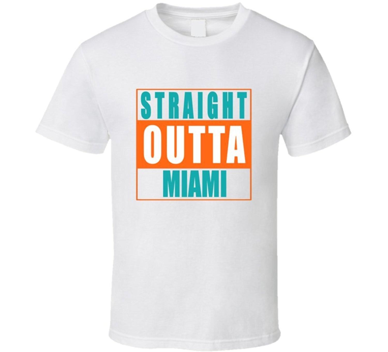 Design your own t-shirt miami - Straight Outta Miami T Shirt China Mainland