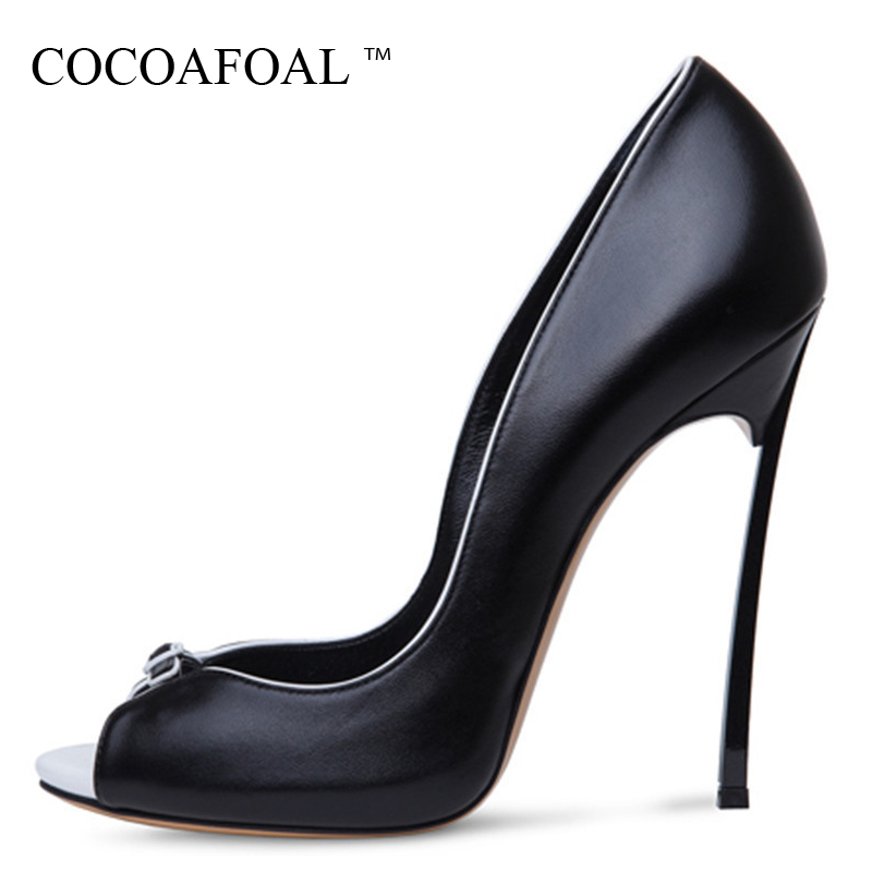 COCOAFOAL Woman Peep Toe Pumps Plus Size 34 - 43 Party White Wedding Pumps Black Sexy Pole Dance 12 CM Ultra High Heels Shoes aidocrystal plus size 35 43 sexy crystal peep toe wedding shoes rhinestone woman pumps open toe high heels