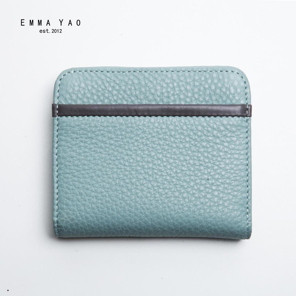 EMMA YAO original läder plånbok kvinnliga kända märkesdesigner - Plånböcker - Foto 2