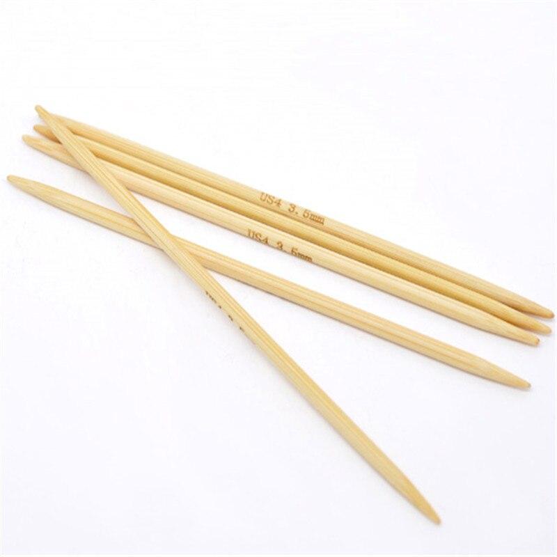 DoreenBeads 13cm Long Bamboo Crochet Hook Hand Sewing DP Knitting Needle Sewing Sweater Accessories ( US Size 4/3.5mm ) 5PCs/Set