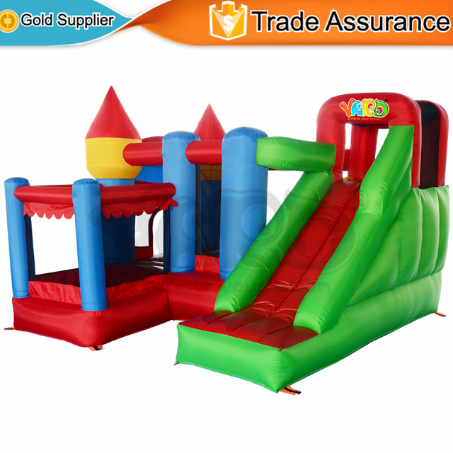 YARD Inflatable Bouncy Castle With Ball Pool And Slide Kids Jumping House  Mini Trampoline Backyard Toys