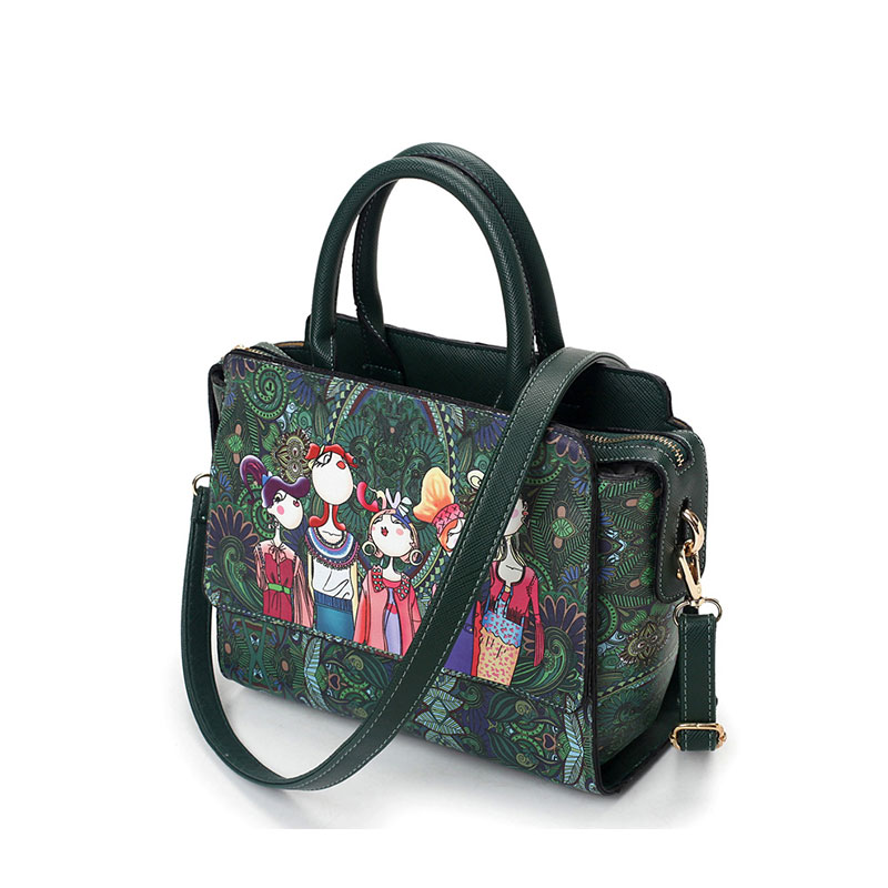 National Green Foresta Donne Moda Bag 2017 Sacchetto Signore Borse Di Yqyder Verde In Singolo Pelle Patchwork Wind Borsa Spalla Flap Messenger Ragazza Design wBROI4
