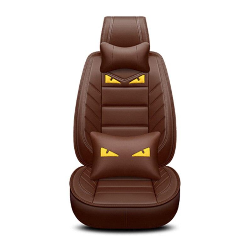 Luxury PU Leather Cute cartoon Auto Universal car seat covers for Skoda Rapid Fabia Superb Octavia Yeti automobiles accessories