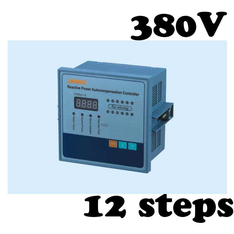 JKW5C-12 power factor regulator compensation controller for power factor capacitor 12steps 380v jkw5c 12 power factor regulator compensation controller for power factor capacitor 12steps 380v