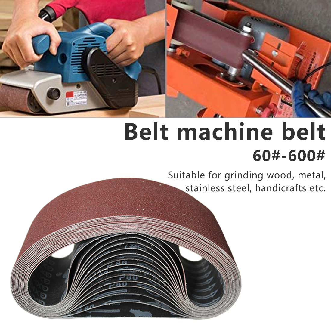 Abrasive Sanding Belts  P60-600 Coarse To Fine Grinding Belt Grinder Accessories 915*93mm