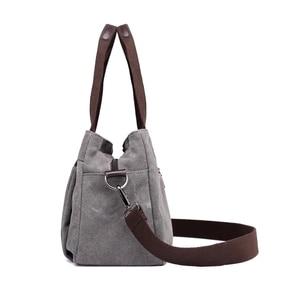 Image 2 - Çanta kadın çantası kanvas çanta kadınlar için 2019 büyük Tote bayan çanta bayan tasarımcı omuz askılı postacı çantaları kadın Crossbody çanta