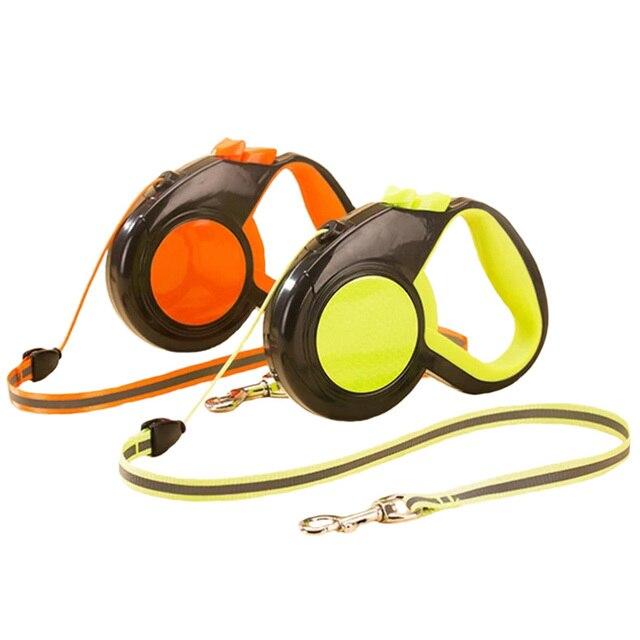 Automatico Retrattile Cane Guinzagli ABS Nylon Walking Funzionamento di Notte Ri