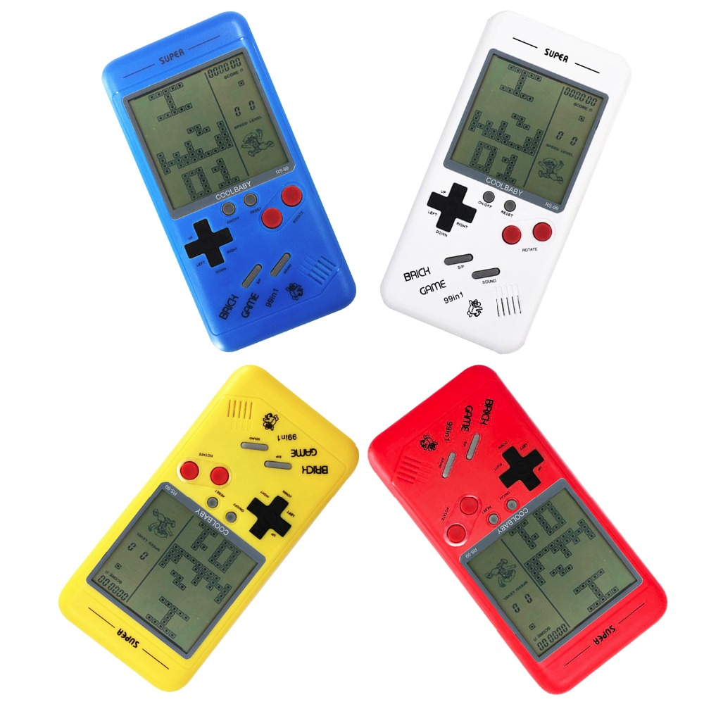 New Arrival 99 in 1 Portable Game Console, Handheld with Battle City/Tetris/Car Racing/Pavestones/Shooting/Frogger etc.
