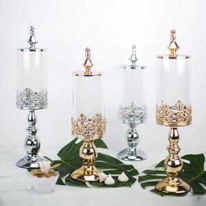 Image 1 - Sucrier décoration de table à dessert de mariage, sucrier en verre, bocal à bonbons, réservoir de stockage de bonbons à biscuits