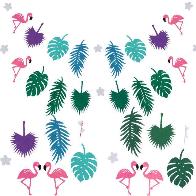 Розовый фламинго партии баннер нетканые ткани гирлянда баннер для свадьбы душа ребенка день рождения мероприятия фестиваля украшения