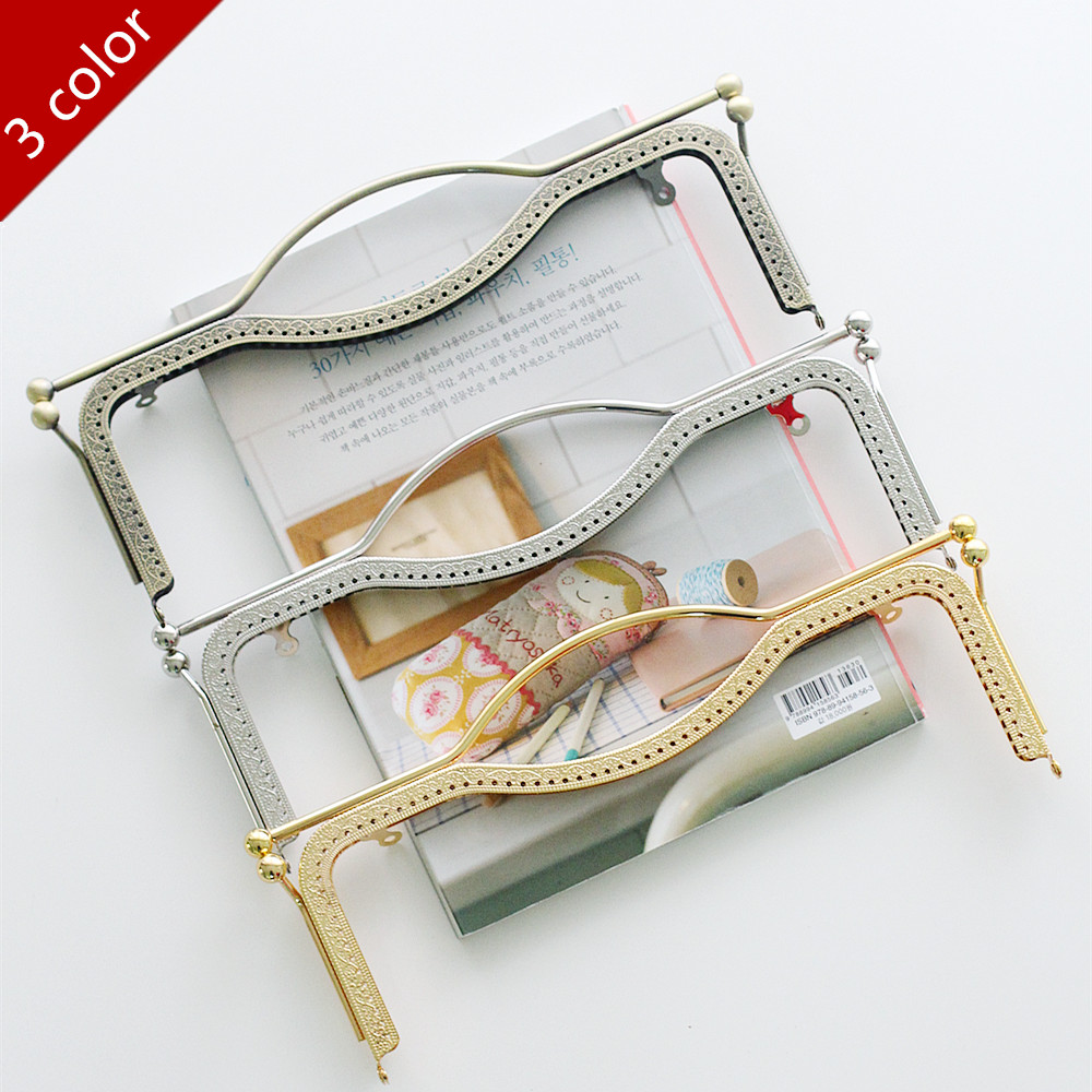 5 pcs haute qualité 27 CM grande taille lèvre métal sac à main cadre pièces pour couture sac à main partie 3 couleur peut être choisi, livraison gratuite-in Pièces de sacs et accessoires from Baggages et sacs    1