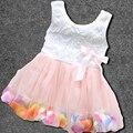 Baby Wedding&Birthday Party Dresses Flower Girls Princess Dresses Kids Beautiful Baby tutu Dress Lace Bow Flower Vest Dress