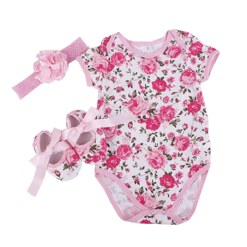 New baby clothes Leopard rompers baby girl clothes 3pcs/sets romper Headband shoes girl vestidos clothes bebe bodysuit sets