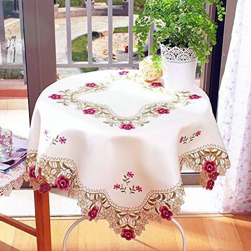 Designer Tablecloth For Your Home Adds Chic Feeling Clean Simple But Elegant