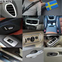 auto styling voor volvo v40 rvs refit speciale interieur accessoires auto stickers controle onderdelen decoratieve stickers