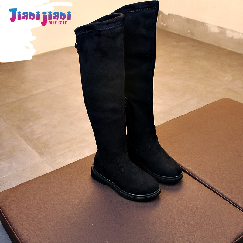 2-12T Winter Autumn Baby Girls Children Suede side zipper Knee-High Leather Boots Maiden Toddler Fashion Frail Kids Riding Boots dunlop winter maxx wm01 205 65 r15 t