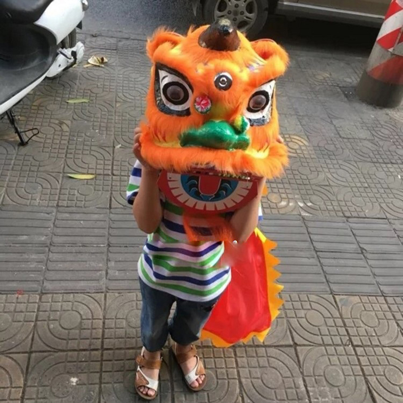 Simple Kid Size Lion Dance Costume Children lion dance costumes Chinese cosplay props