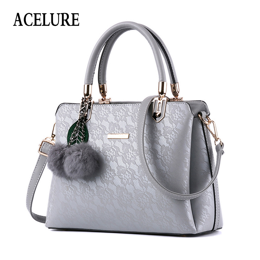 ACELURE Women Fur Handbags High Quality Printing Women Bags Women PU Leather Shoulder bags Messenger Bags Sweet Tote Bag Bolsa sweet women s tote bag with color block and pu leather design
