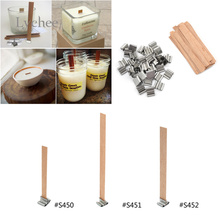 Lychee 50 pieces New Arrival 8mm 12.5mm 13mm Wooden Candles Wick Sustainer Candle Wick Core with Candle Home Decor