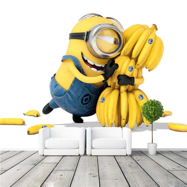 Buy Cute Minions Bananas Wallpaper Cartoon Movie Wall Mural Customize Photo