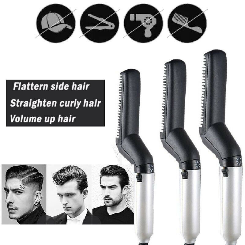 Hair Curling Iron Men 39 s All In One Ceramic Hair Styling Iron Comb Beard Straightener Curler Set Quick Hair Care Tool in Hair Care Sets from Beauty amp Health