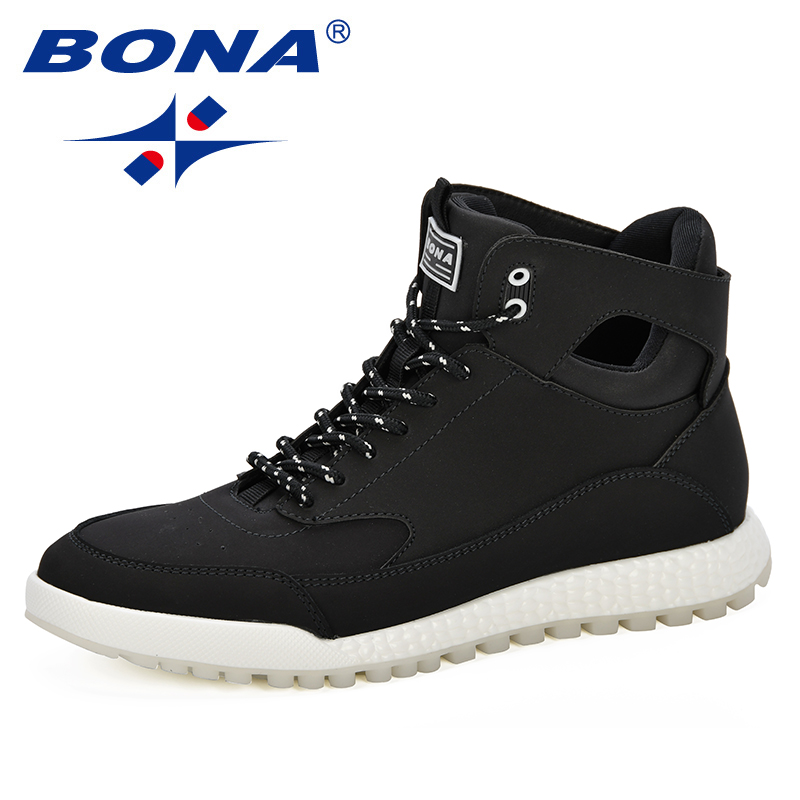 BONA New Arrival Popular Style Men Boots High Top Men S Boots Fashion Trendy Men Boots