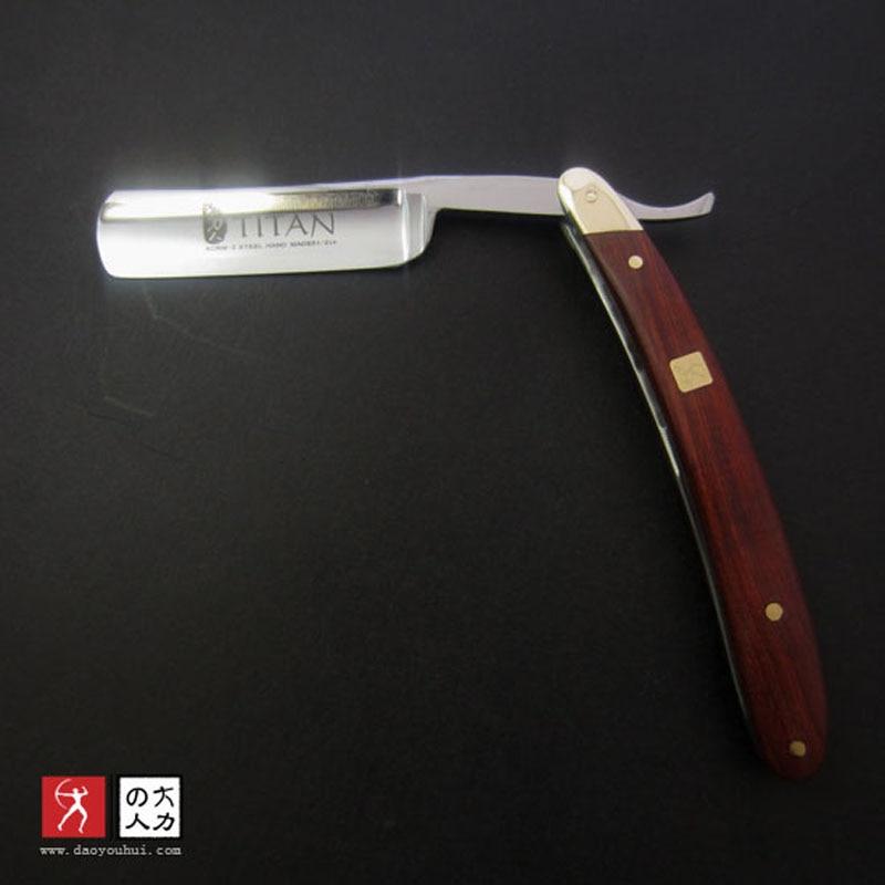 free shipping titan brand wood handle straight shaving razor blade shaving ready