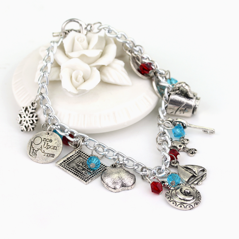 Amazing Once Upon A Time Fairy Tale Charm Bracelet Emma Swan Rumbelle Regina Snow White Bracelets In Chain Link From Jewelry Accessories On