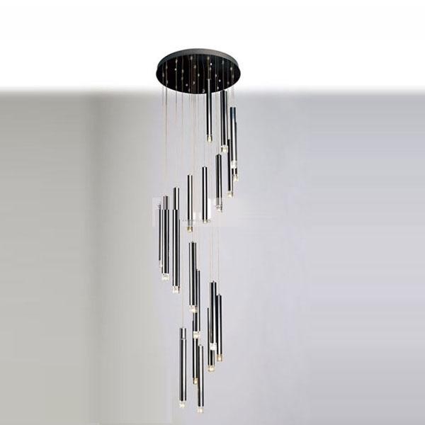 28 Dining Room Pendant Light Modern 22 Pcs Black Aluminum Tube Clear Crystal Cube Living Room Pendant Lamp 3head crystal light ball aluminum pendant light child real dining room pendant light modern fg964