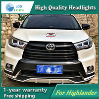 Car Styling Head Lamp For Toyota Highlander Headlights 2016 LED Headlight Double U Led Drl H7