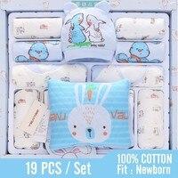 19 Pcs/set Newborn Baby Sets 100% Cotton Soft Winter Infant Suit Baby Girl Clothes Baby Boy Clothes Clothes Neonatal Supplies