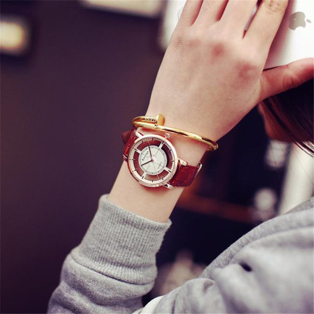 Watch Neutral Fashion Personality Simple Fashion Unique Hollow Watch Luxury Unique Stylish Double Hollow Elegant Casual Wristw 2