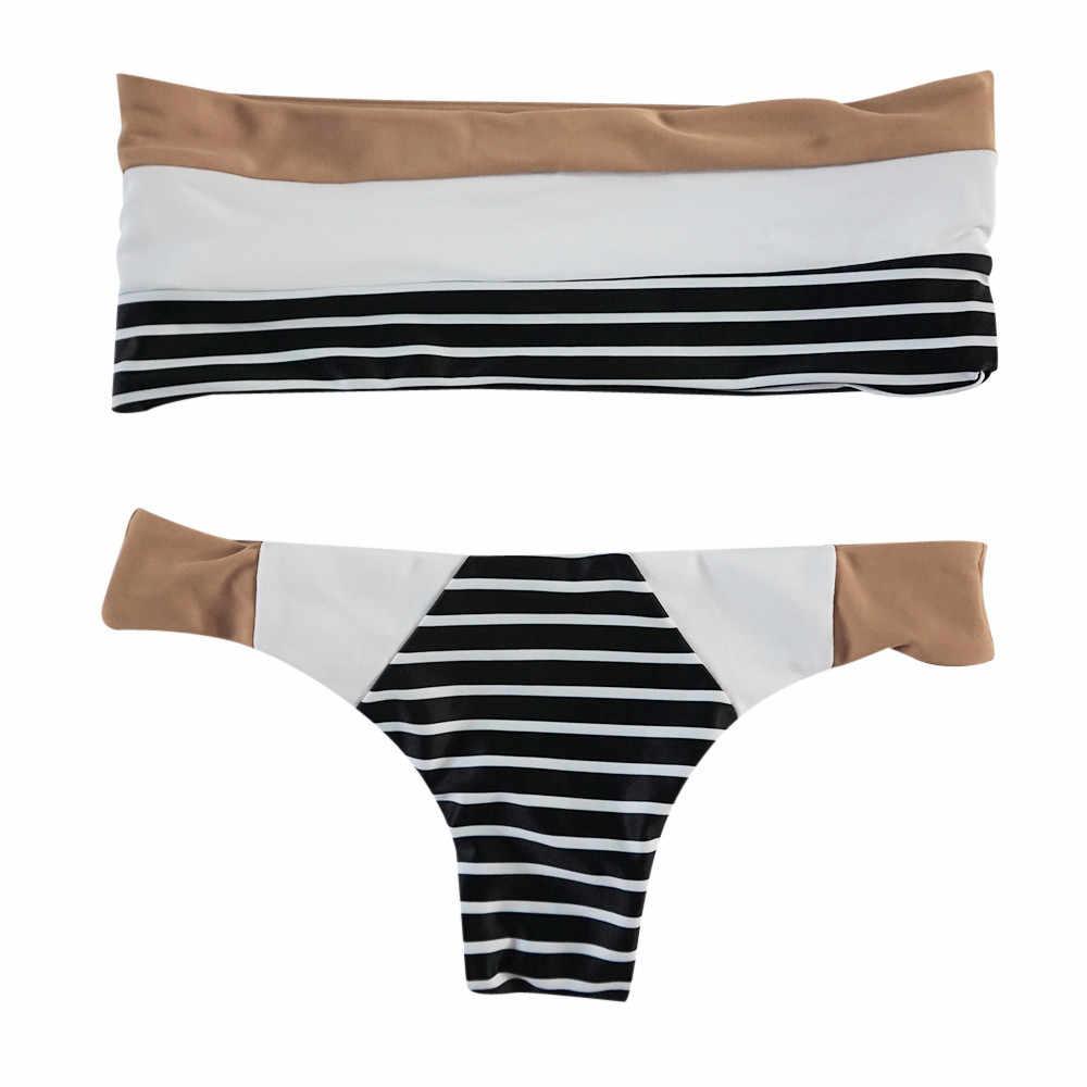 Telotuny ผู้หญิงชุดว่ายน้ำ praty สีตี Bandeau บิกินี่คลอดบุตรชุดว่ายน้ำผู้หญิงชุดว่ายน้ำ 2020 คลอดบุตรเสื้อผ้า JL 12