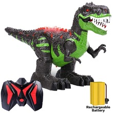 Remote Control Robot Dinosaur Lights & Sounds Fast Forward Function RC Toys for Children remote control tyrannosaurus velociraptor giganotosaurus rugops rc walking dinosaur toy with shaking head light sounds