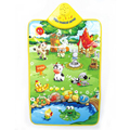 Promotion price 60*40CM Cute Musical Farm Baby Play Mat Musical Carpet Baby Developmental Crawling Mat WJ405