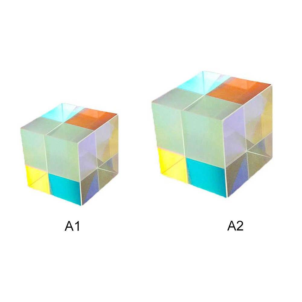 X-cube de seis caras, Cubo de luz brillante, viga de prisma, División de prisma, instrumento de experimento óptico, lente óptica 1 pieza