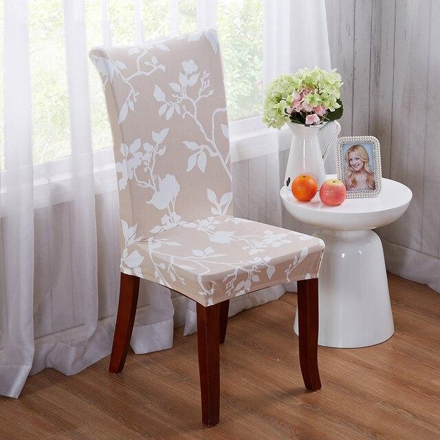 כיסא מכסה צד אור חאקי המודפס אלסטיים ספנדקס פוליאסטר מכסה כיסוי כיסא אוכל כיסא מלון לסעודת חתונה V43