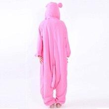 Winter Kigurumi Cute Pink Panther Woman Onesie Hooded Onesies For Adult One-Piece Animal Pajamas Long Sleeve Sleepwear Pijama