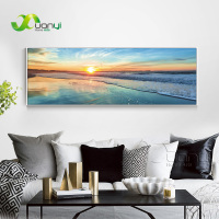 Ocean Wave Painting Sea Sunset Wall Art Picture Home Decoration Canvas Pictures For Living Room Canvas