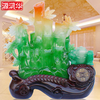 2016 Special Offer Rushed Of Honghua Fuzhu Wangcai Ornaments Imitation Jade Bamboo Crafts Resin Decoration Home Furnishing