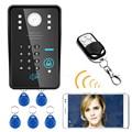 MAOTEWANG беспроводная wifi RFID пароль видео домофон система ночного видения Водонепроницаемая система контроля доступа + беспроводная