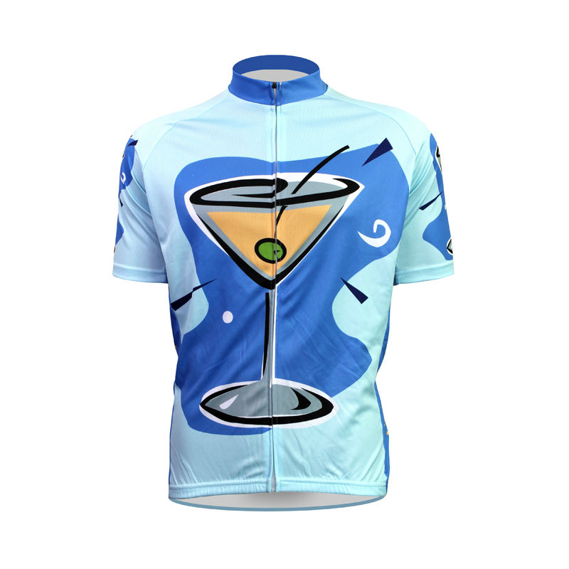 ФОТО New Mens Cycling Jersey Comfortable Bike/Bicycle shirt martini time Alien Sports Wear Blue bike jersey 2XS-5XL