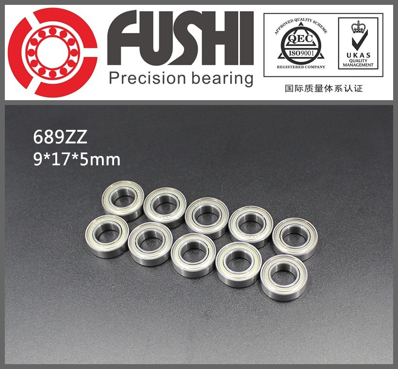 689ZZ Bearing ABEC-1 10PCS 9x17x5 MM Miniature 689Z Ball Bearings 618/9ZZ 689 ZZ 6903zz bearing abec 1 10pcs 17x30x7 mm thin section 6903 zz ball bearings 6903z 61903 z