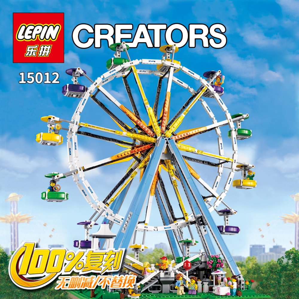 2016 New font b LEPIN b font 15012 CREATOR series the Ferris Wheel model building blocks