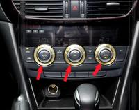 3 Pcs Air Conditioner Control Knobs Trim Panel Switch For Mazda 6 ATENZA 2014